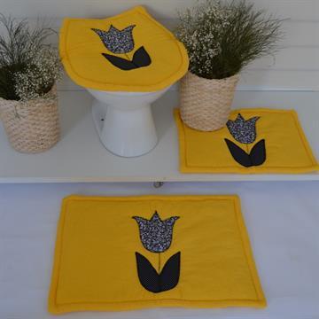 Jogo de tapetes Banheiro Básico - Amarelo