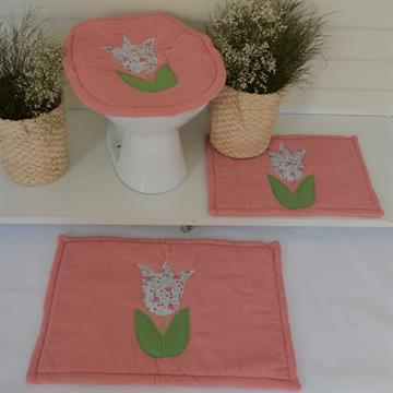 Jogo de tapetes banheiro  Básico - Rosa Blusch
