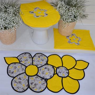 Jogo de tapetes Banheiro  Lorena Rosa - Amarelo